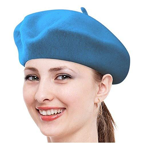 Primary image for Turquoise Caps for Women Hat French Winter New Womens Beret Girls Ski Warm Artis