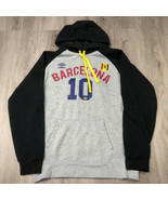 Umbro Grey Barcelona #10 Hoodie Gray Black Size Medium M Soccer - $14.80
