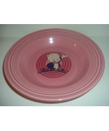 "Homer Laughlin Fiesta Rose Porky Pig Warner Bros 9"" Soup Bowl - $59.99"