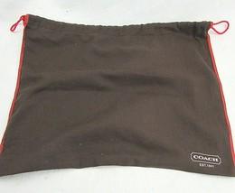"COACH BROWN DUST BAG FOR YOUR HANDBAG 16.5"" W x 13.5"" L - $9.47"