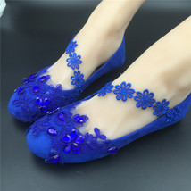 royal blue dress shoes womens,royal blue lace shoes,royal blue ballerina... - $38.00