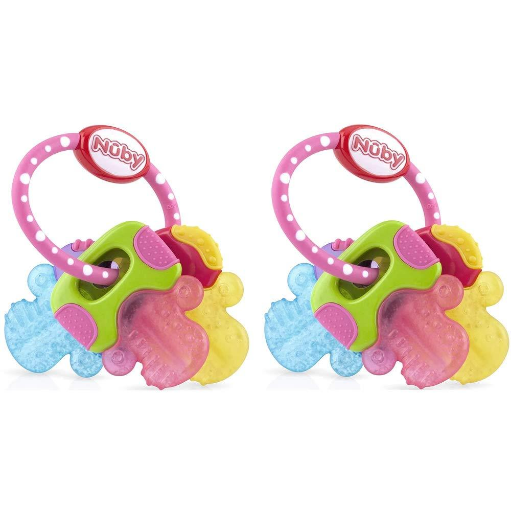 Primary image for Nuby Ice Gel Teether Keys (2 Pack Pink)