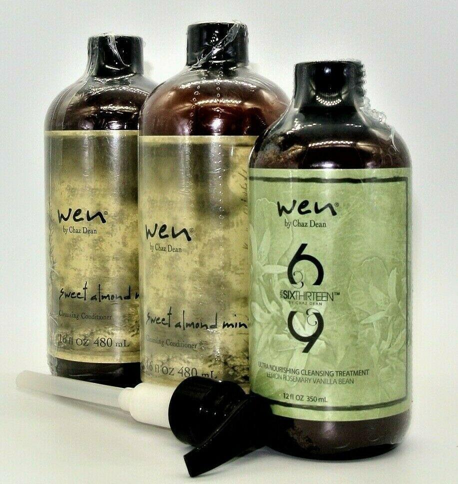 Wen by Chaz Dean Cleansing Conditioner Shampoo Trio - Choice Bundle 16oz or 12oz - $115.99 - $150.99