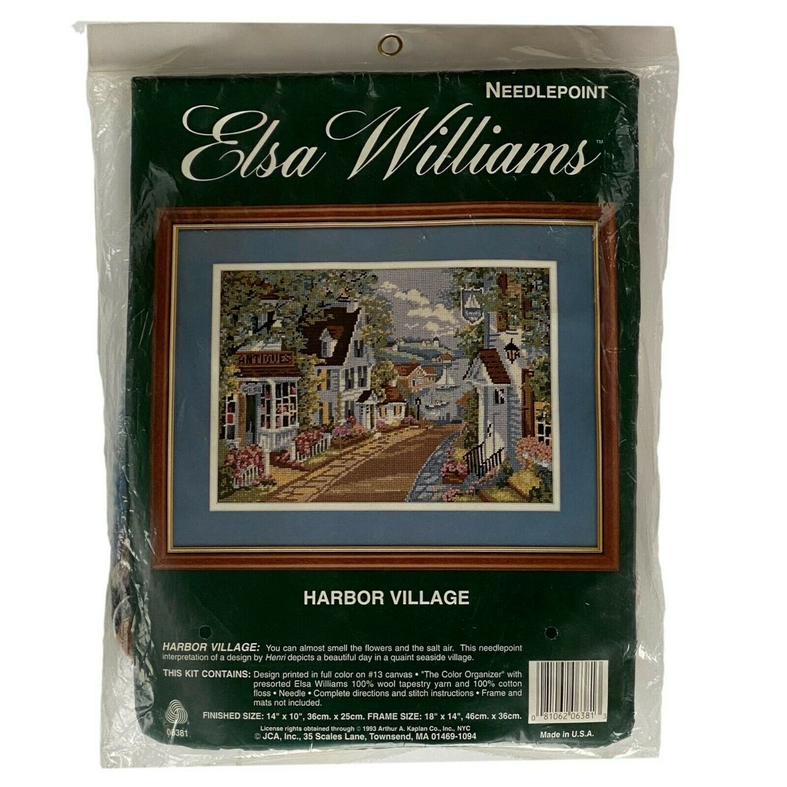 Primary image for Elsa Williams Needlepoint Kit 06381 Harbor Village Seaside SEALED