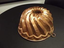 Large Antique Copper Jelly Mold Twisted Form Victorian English Circas 18... - $123.75