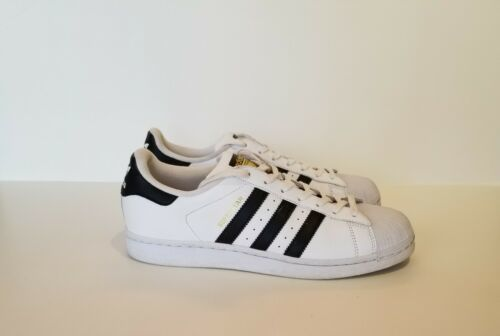 Adidas Superstar 8.5 Sneakers C77124 White Black Leather Shell Toe - Worn Once
