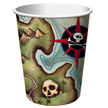 Pirates Map 9 oz Hot/Cold Cups/Case of 96 - $37.94