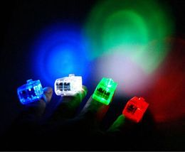 LED FINGER LIGHTS LAMPS PARTY LASER TORCH GLOW RING - RANDOM COLOR image 3