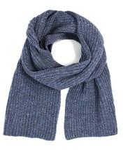 Ferruccio Vecchi Men's Donegal Rib Knit Wool Blend Scarf, Blue Jeans - $59.39