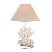 Table Lamps For Living Room, White Coral Decorative Bedroom Bedside Tabl... - $68.99