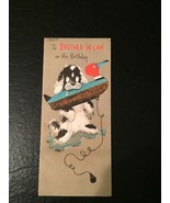 Vintage Birthday Greeting Card  Dog with Duck Decoy Brother In Law Slim ... - $19.80