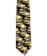 Straw Fedora Hats Mens Necktie Hat Fashion Clothing Silk Black Neck Tie  - $14.85