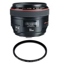 Canon Ef 50mm F1.2L Usm + Hoya 72mm Pro 1D Protector - $1,381.21
