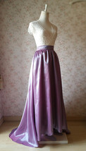 Women Maxi Skirt with Train High Waist Maxi Skirt Evening Long Skirt Train Skirt image 4