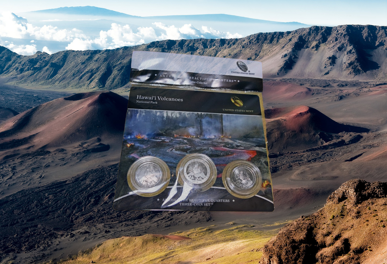 Primary image for 2012 US Mint Hawaii Volcanoes ATB Quarters 3 Coin Set Sealed Hard To Find - New