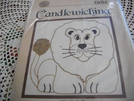Lion Candlewicking Kit: Comes with Fabric, Needle, Thread & Directions - $14.00