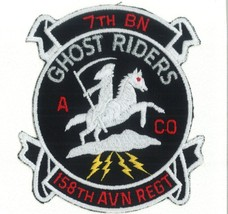 Us Army A Co 7-158TH Aviation Regiment Ghost Riders Patch New!!! - $11.87