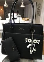 KATE SPADE Grove Street Maeve Laptop Work Tote Handbag Wallet & Bag Charm - $239.99
