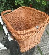 Bicycle Basket Trendy Style Wicker Willow Shopping Basket With Handle - $36.96+
