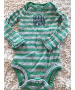 Carters Boys Gray Green Striped COOL BEYOND YEARS Long Sleeve One Piece ... - $3.00
