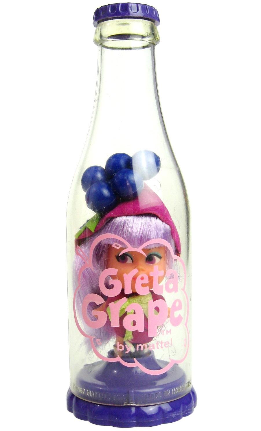 Vintage 1968 Mattel Liddle Kiddles Greta Grape Kola Cola Doll w/Soda Bottle MINT - $59.99