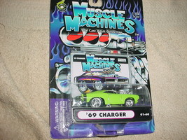 Muscle Machines '69 Charger 01-60 Mopar Green Free Usa Shipping - $11.29
