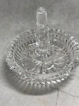 Waterford Cut Crystal Ireland  ring holder round Heritage Vintage - $69.29