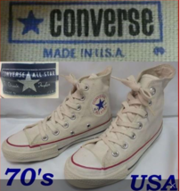 Converse 1970's Chuck Taylor All Star Hi Sneakers US Size 2 Ivory White B75 - $308.62