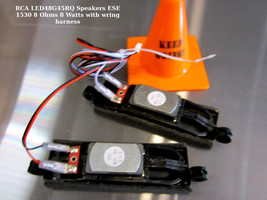 RCA LED48G45RQ Speakers ESE 1530 8 Ohms 8 Watts with wring harness - $11.26