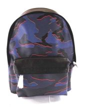 Coach Camouflage Blue Multi Charles Leather Backpack Bag - $229.99