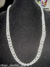 Vintage Faux Pearl and Clear Bead Beaded Colored Color Plastic Necklace Choker - $14.85