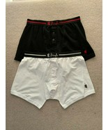 Pringle Boxer Shorts  Button Fly Red Black White  L - $21.03