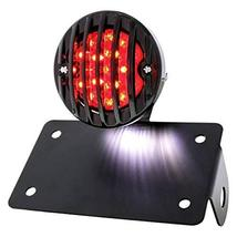 United Pacific Motorcycle LED Bobber Style Horizontal Tail Light w/Black... - $115.59