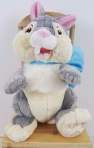 Disney Store Thumper Exclusive Authentic Easter Bunny Blue Bow 10 Inch Plush - $17.98