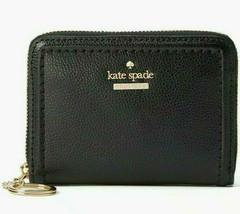 Kate Spade Dani Patterson Drive Black Leather Ziparound Wallet WLRU5274 $89 MSRP - $29.99