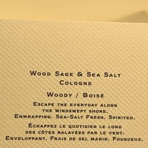 NEW IN BOX Jo Malone Wood Sage & Sea Salt 9mL (.3 oz.) Uplifting image 2