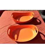 Rachael Ray Stoneware 1.5 Quart & 4 Quart Oval Bubble & Brown Baker Set ... - $29.97