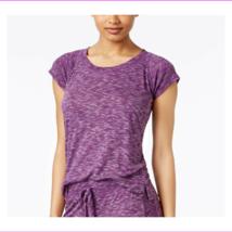 Alfani Raglan-Sleeve Pajama Shirt, Purple Space-Dye, XS - $7.70