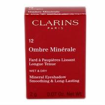 Clarins Mineral Eyeshadow Smoothing & LONG-LASTING Wet & Dry 2G #12 NIB-422221 - $19.31