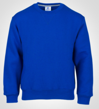 Russell Athletic TAILLE S Jeunesse Polaire Sweatshirt Col Rond Royal