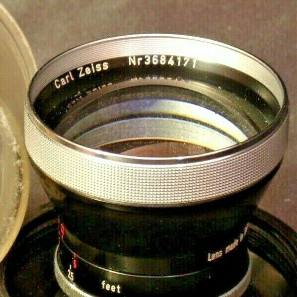 Carl Zeiss Pro-Tessar Lens f=85mm with fitted Zeiss Ikon Case AA-192031 Vintage
