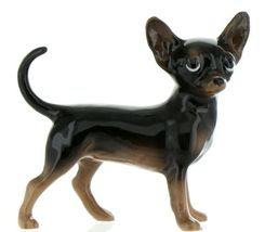 Hagen Renaker Pedigree Dog Chihuahua Large Black and Tan Ceramic Figurine image 3