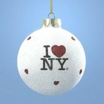 Kurt Adler I Love NY-Glass Ornament - $9.99