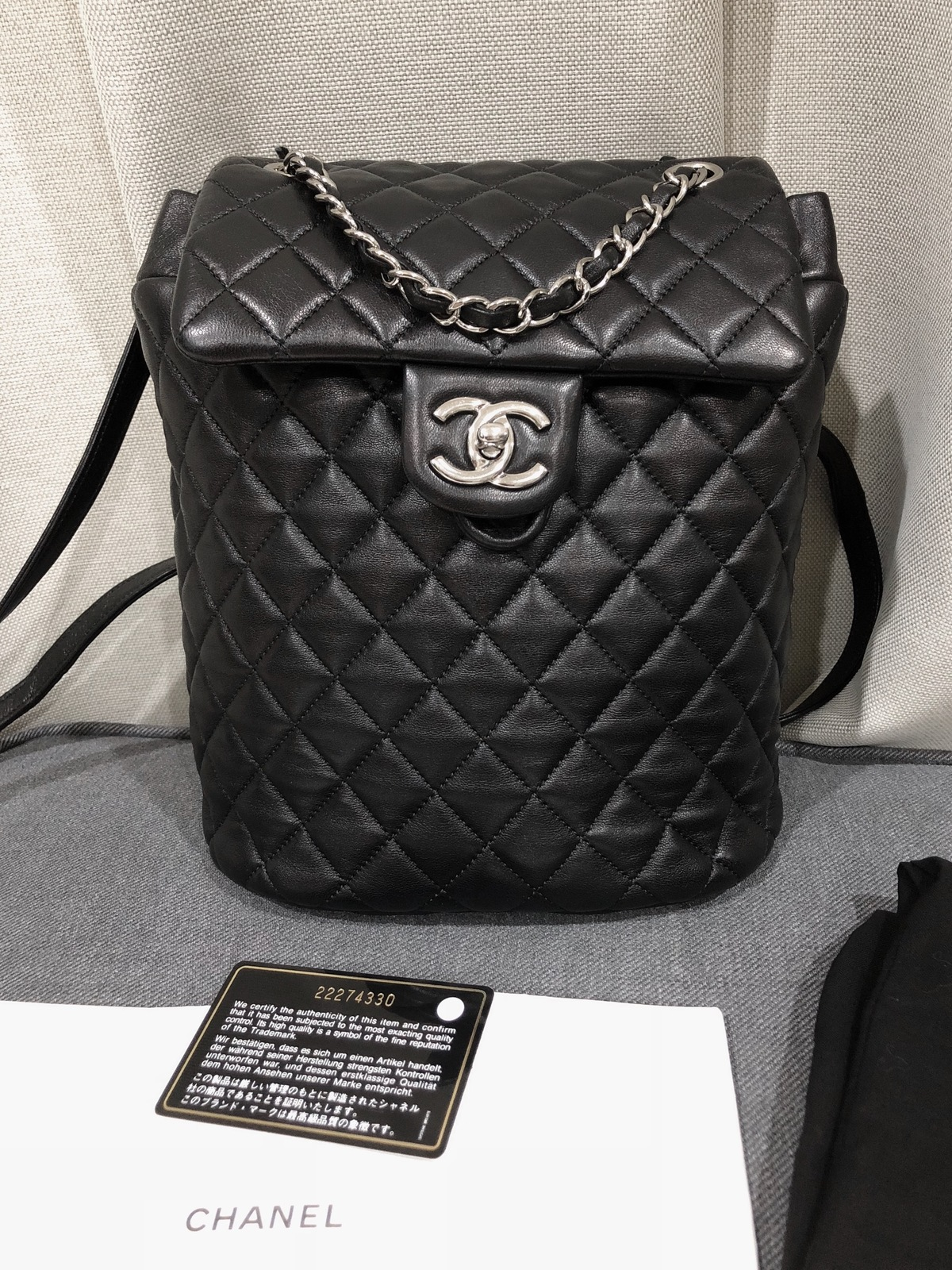 c86742e7cdb1 100% Authentic Chanel 2017 Black Quilted and 12 similar items
