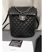 100% AUTHENTIC CHANEL 2017 BLACK QUILTED LAMBSKIN URBAN SPIRIT BACKPACK SHW - $4,199.99