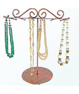 Copper 6 bar Necklace Metal Display Stand Jewelry Necklaces - $19.50