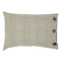 ABILENE STAR Pillow Case Set - 21x30 - Burgundy/Tan/Dark Brown - VHC Brands