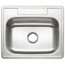 Gourmetier Studio GKTS25227 Self Rimming Single Bowl Sink, Satin Nickel  - $64.82