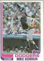 1982 Topps Mike Scioscia LA Dodgers #642 Baseball Card - $1.97