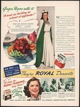 Vintage magazine ad ROYAL GELATIN Pudding from 1940 Ginger Rogers Gloria... - $12.99